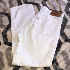 Other - Vintage White Levi's 501 jeans 👖